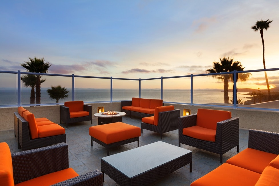 A fun rehearsal party with panoramic views of Avila and Pismo Beach from this private rooftop, Seacrest Hotel