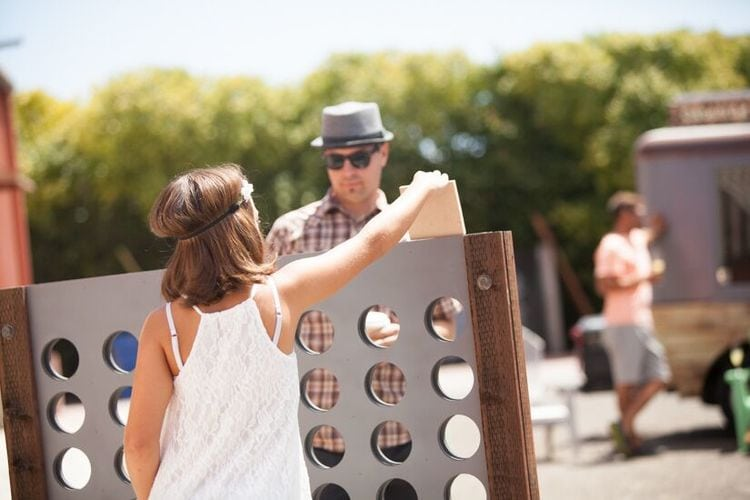 Giant Connect 4 Shenanigans Central Coast Wedding Venue