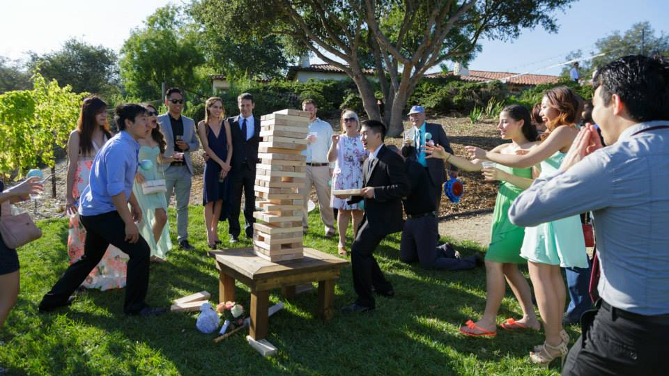 Jenga at The Casitas Estate provided by Shenanigans