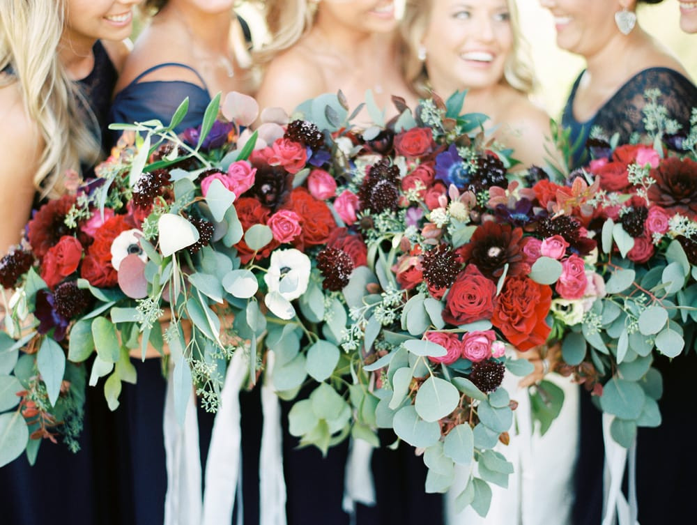 Vibrant overflowing bouquets made by Eden Floral