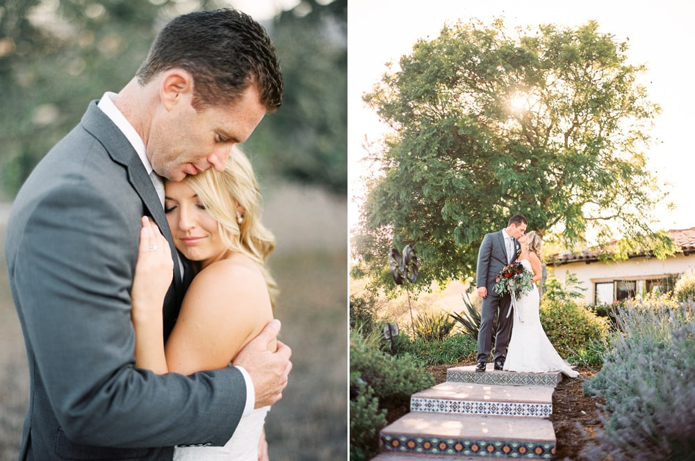 Film photographs of newlyweds at the Casitas Estate