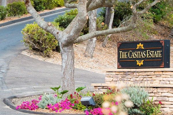 The Casitas Estate Entrance