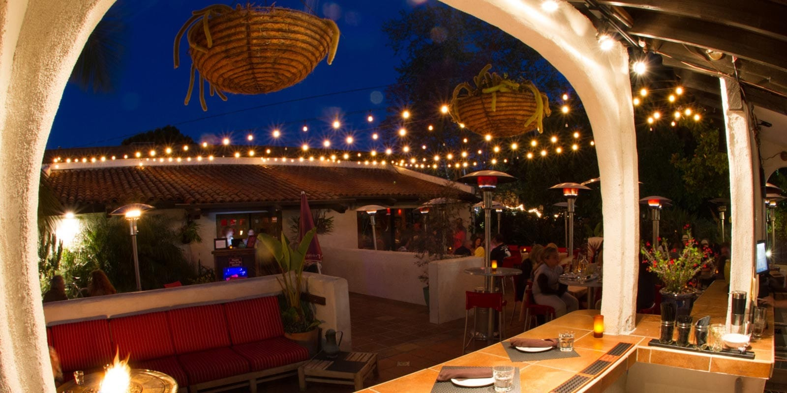 Luna Red, pictured, and sister restaurant, Novo, offer creative cuisine and outdoor seating for your rehearsal dinner