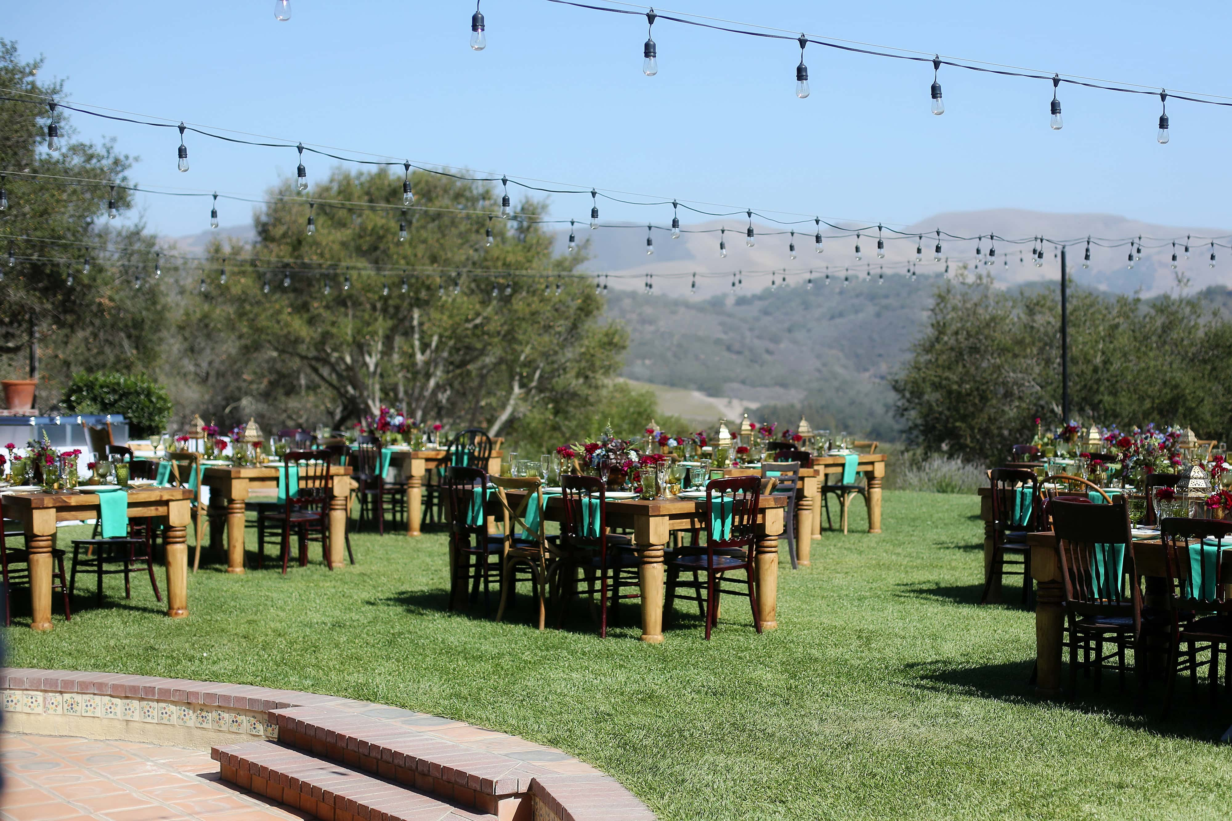 The Casitas Estate reception and lighting central coast california