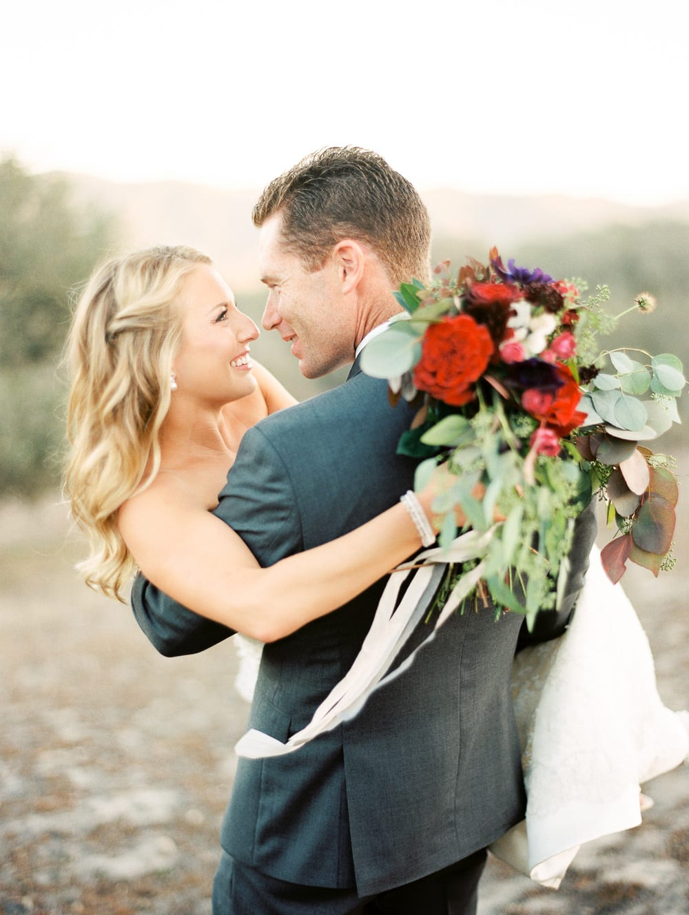 Kristen and Shaun's colorful Casitas Estate wedding