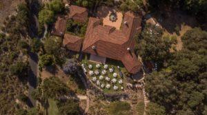 Aerial The Casitas Estate Wedding Reception 2019_